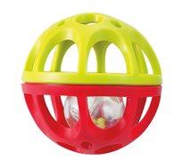 'כדור המשחק הראשון שלי' קל לאחיזה המכיל כדור צבעוני המשמש כרעשן - משלוח חינם