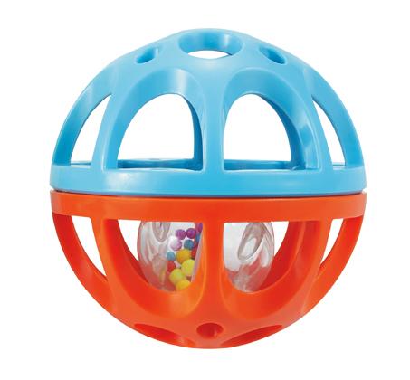 'כדור המשחק הראשון שלי' קל לאחיזה המכיל כדור צבעוני המשמש כרעשן - תמונה 2