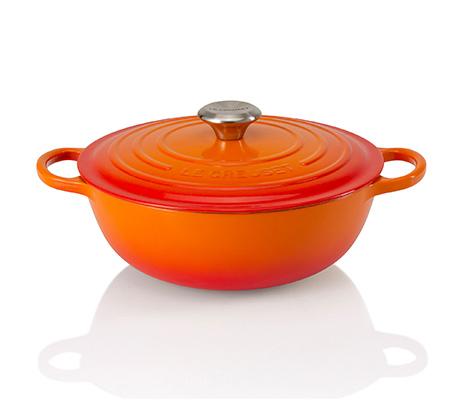 """סיר מרק כתום 26 ס""""מ ברזל יצוק לכל סוגי הכיריים ולתנור"""