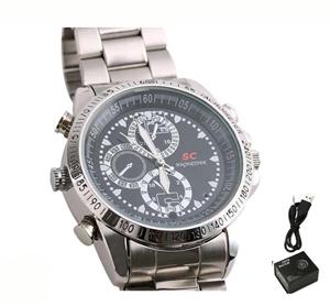SPY WATCH - שעון יד יוקרתי עם מצלמה מובנית ומיקרופון רגיש במיוחד