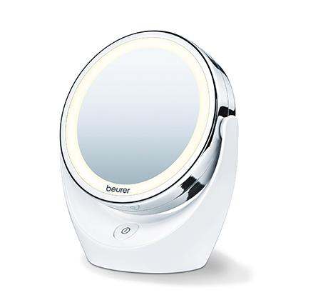 מראה מקצועית מגדילה עם תאורת LED