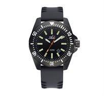 שעון יד אנלוגי ספורטיבי לגבר עשוי פלדת אל חלד מושחרת ועמיד במים