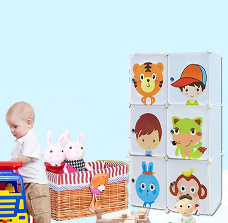 כוורת אחסון מפלסטיק לחדר הילדים בעלת דלתות מאוירות בגדלים וצבעים לבחירה דגם ספייסי HOMAX - תמונה 4