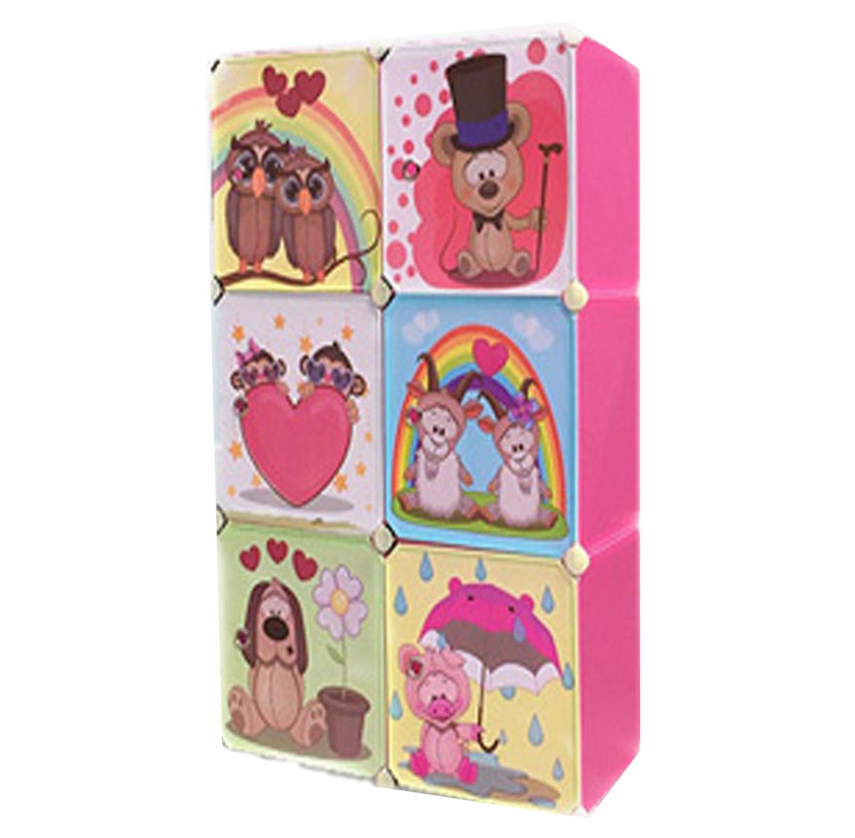 כוורת אחסון מפלסטיק לחדר הילדים בעלת דלתות מאוירות בגדלים וצבעים לבחירה דגם ספייסי HOMAX - תמונה 2
