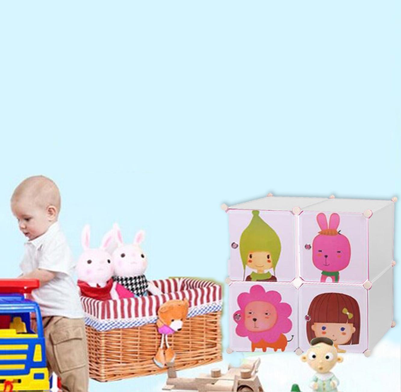 כוורת אחסון מפלסטיק לחדר הילדים בעלת דלתות מאוירות בגדלים וצבעים לבחירה דגם ספייסי HOMAX - תמונה 3