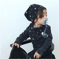 Babymitmit כובע דו צדדי לתינוק שחור - Galaxy