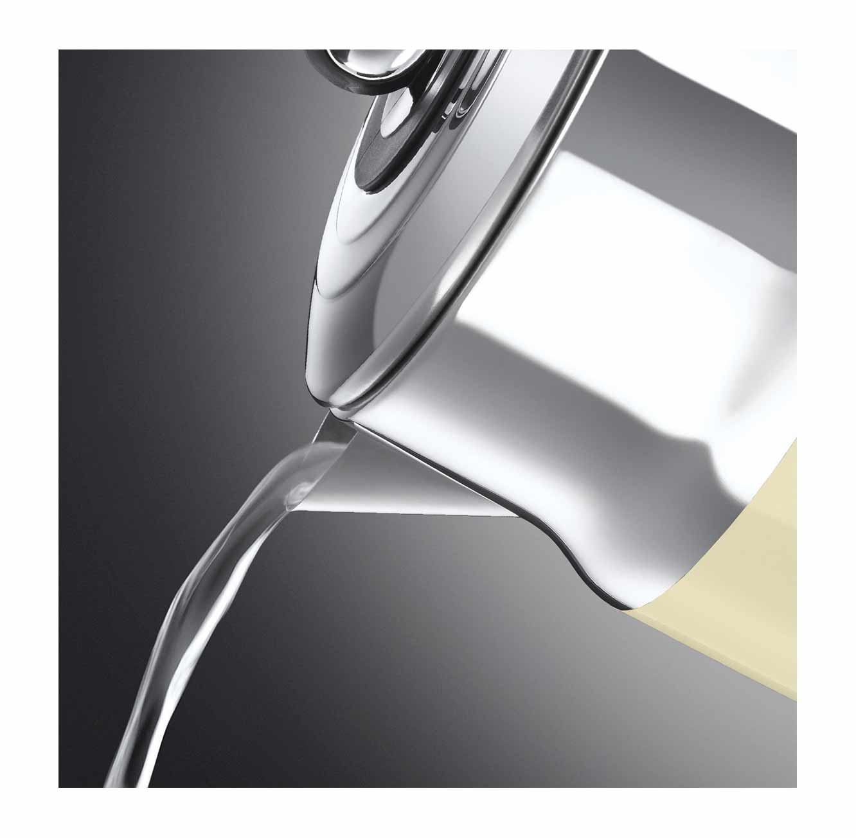 כד חשמלי נירוסטה מעוצב Russell Hobbs דגם Retro Cream 21672-70T מתצוגה - משלוח חינם - תמונה 2