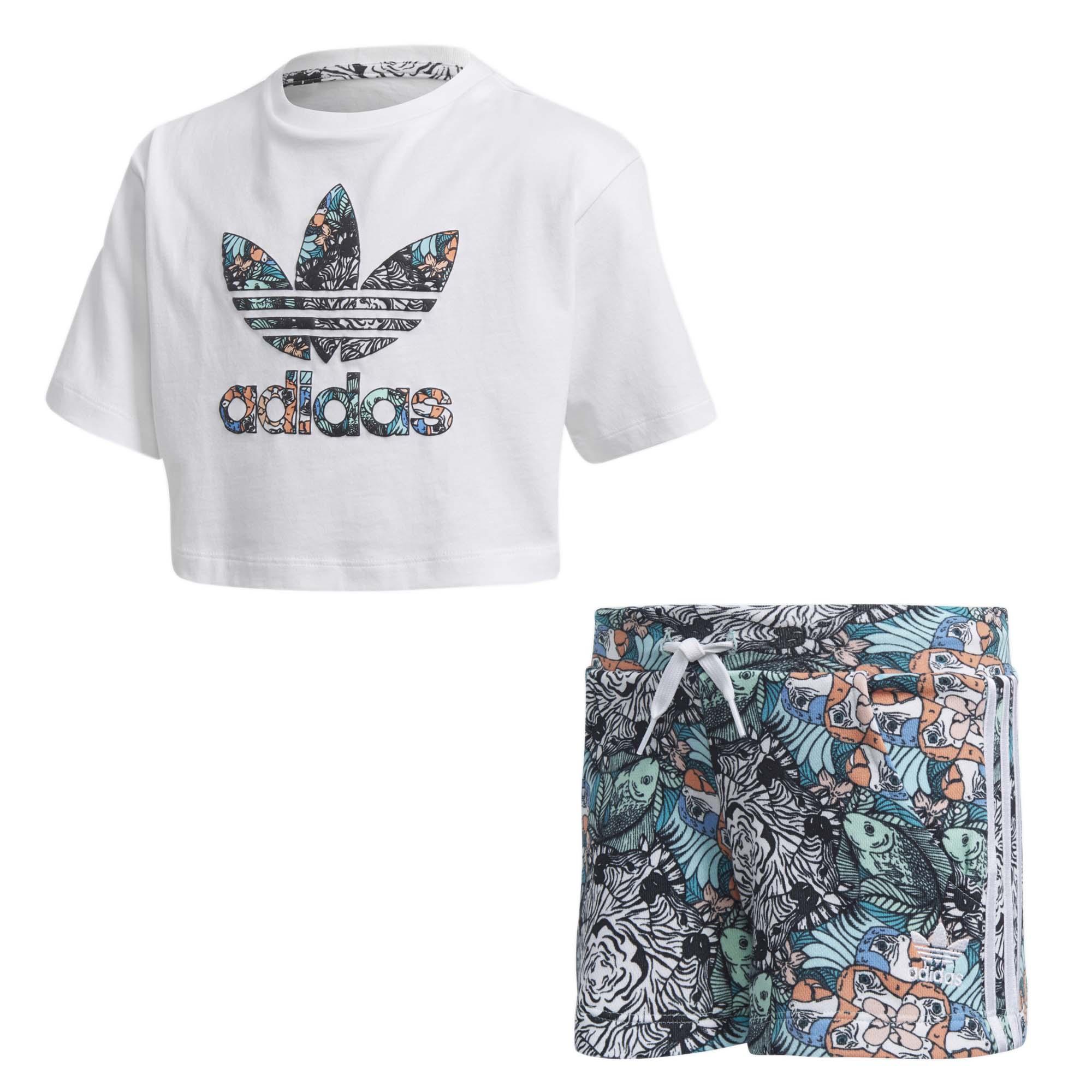 Adidas תינוקות// Short Tee Zoo Set