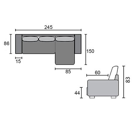 מערכת ישיבה פינתית מרופדת נפתחת למיטה עם ארגז מצעים דגם זולה מבית 'שמרת הזורע' - תמונה 7