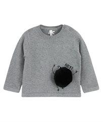 חולצת סריג שרוול ארוך+פונפון