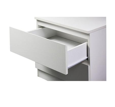 חדר שינה MERLIN מעור אמיתי ואיכותי לבן הכולל מיטה זוגית, 2 שידות וקומודה GAROX - תמונה 6