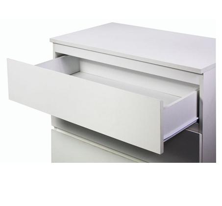 חדר שינה MERLIN מעור אמיתי ואיכותי לבן הכולל מיטה זוגית, 2 שידות וקומודה GAROX - תמונה 3