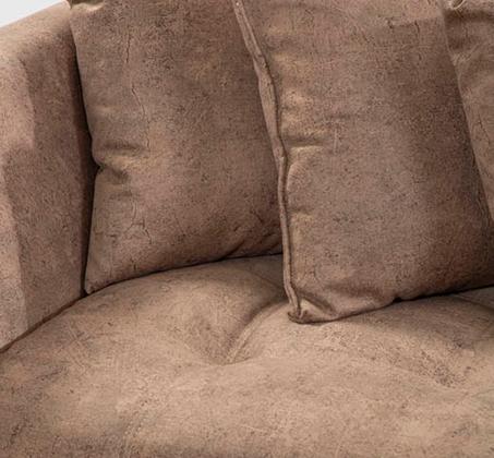 מערכת ישיבה בעיצוב מודרני מבד דגם קלאודיה עם כריות נוי מתנה LEONARDO - תמונה 3