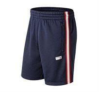 שורט יומיומי בעיצוב ספורט-אלגנט לגבר New Balance בצבע כחול כהה/אדום