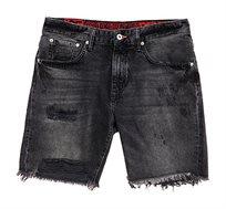 מכנס ג'ינס קצר Superdry Conor לגברים בצבע שחור