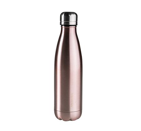 """בקבוק 500 מ""""ל דופן כפול בגוון Metallic Rose Gold נירוסטה"""