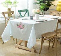מפה חגיגית לשולחן האוכל דגם רוזלינה במבחר גוונים וגדלים לבחירה