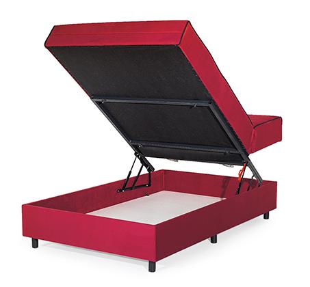 מיטה וחצי אורתופדית עם מזרן שורות קפיצים מבודדות כולל ארגז וראש מתכוונן דגם קים בצבעים לבחירה - תמונה 3