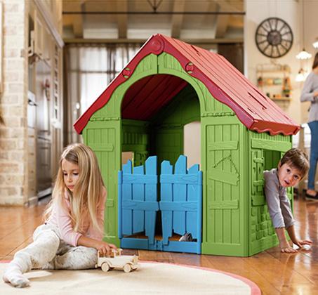 מעולה  בית משחק מתקפל פלסטיק איכותי לילדים KETER IU-02