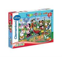 פאזל רצפה עם דמויות מיקי ומיני מאוס בחווה מכיל 60 חלקים Clementoni
