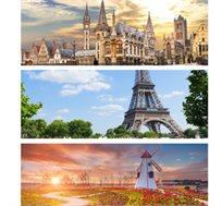 """8 ימי טיול מאורגן בארצות השפלה- בלגיה, צרפת, והולנד ע""""ב א.בוקר החל מכ-$696*"""
