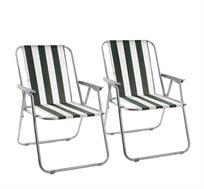 זוג כיסאות מתקפלים וקלים לנשיאה + תיק גב מתנה
