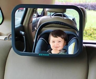 מראה אחורית רחבה לרכב לצפיה בתינוק במושב בטיחות/סלקל