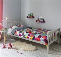 מיטה וחצי לילדים ונוער מעוצבת עשויה מעץ מלא עם משענת ראש גבוהה דגם PROSPER