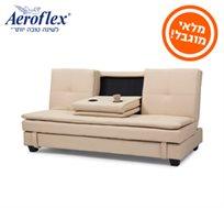 ספה מעוצבת דגם MOYA הנפתחת למיטת אירוח הכוללת ארגז מצעים, מבית Aeroflex