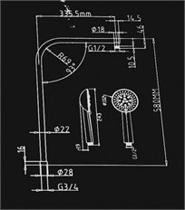 מערכת משולבת ויוקרתית למקלחת דגם Av-20