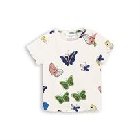 MINI RODINI// BUTTERFLIES SS TEE off white