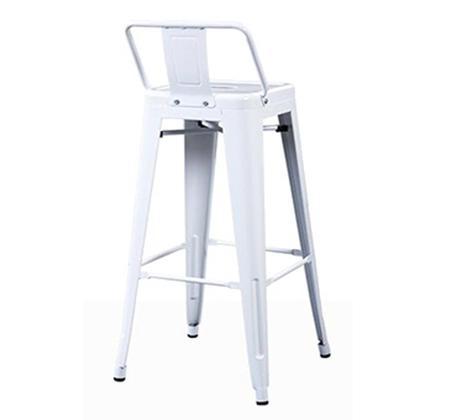 כיסא בר מעוצב ממתכת כולל משענת לתמיכה בגב התחתון במגוון צבעים לבחירה - תמונה 2