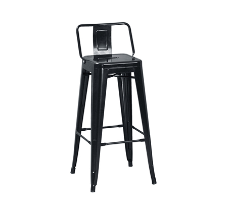 כיסא בר מעוצב ממתכת כולל משענת לתמיכה בגב התחתון במגוון צבעים לבחירה - תמונה 6