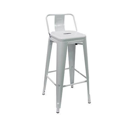 כיסא בר מעוצב ממתכת כולל משענת לתמיכה בגב התחתון במגוון צבעים לבחירה - תמונה 7