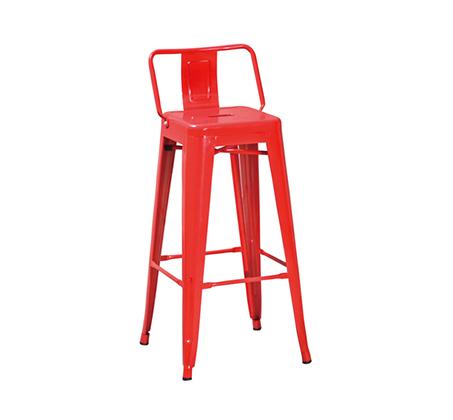 כיסא בר מעוצב ממתכת כולל משענת לתמיכה בגב התחתון במגוון צבעים לבחירה - תמונה 4