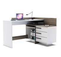 עמדת עבודה פינתית עם שולחן כתיבה מדפים ומגירות תוצרת צרפת מבית HOME DECOR דגם טל
