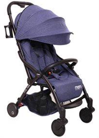 טיולון קומפקטי לתינוק עם קיפול אוטומטי טיק טק פלוס Tik Tak Plus - ג'ינס/שלדה שחורה/עור שחור