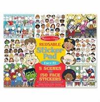 חוברת מדבקות Face It - Melissa & Doug