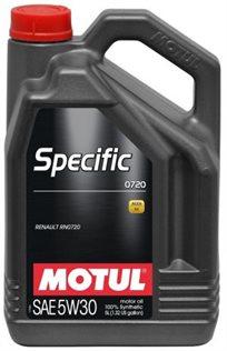 שמן מנוע Specific 0720 Acea C4-10 5L 5W30 Motul