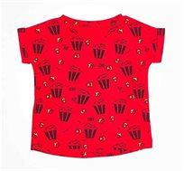 חולצה טי שירט פופקורן לתינוק יוניסקס בשני צבעים לבחירה