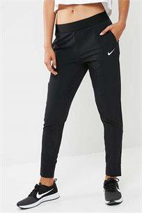 מכנסיים בגזרת סלים לנשים - שחור