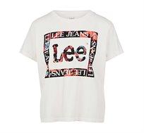 טי שרט Lee הדפס פרחוני לנשים בצבע לבן