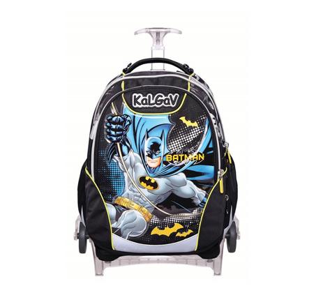 ילקוט אורטופדי X BAG TROLLEY בדגם באטמן + בקבוק שתייה מתנה