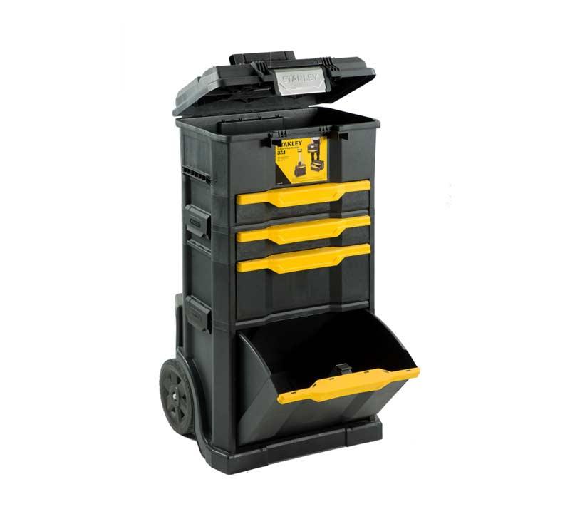 אולטרה מידי ארגז כלים פלסטיק מודולרי 5 חלקים 3 קומות כולל מגירות וגלגלים STANLEY NP-52