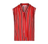 חולצת טופ פסים ללא שרוולים עם עניבה MORGAN 181-DPALIN.N בצבע אדום