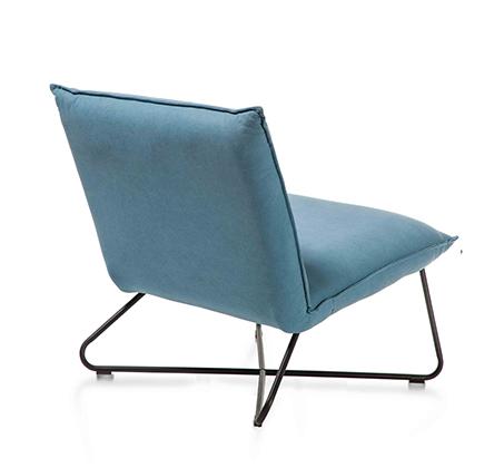 כורסא בעיצוב מודרני דגם פרינס ביתילי בעלת ריפוד בד כותנה עם תפרים תואמים ומסגרת ברזל   - תמונה 2