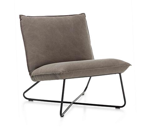 כורסא בעיצוב מודרני דגם פרינס ביתילי בעלת ריפוד בד כותנה עם תפרים תואמים ומסגרת ברזל   - תמונה 3