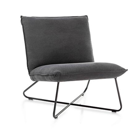 כורסא בעיצוב מודרני דגם פרינס ביתילי בעלת ריפוד בד כותנה עם תפרים תואמים ומסגרת ברזל   - תמונה 4