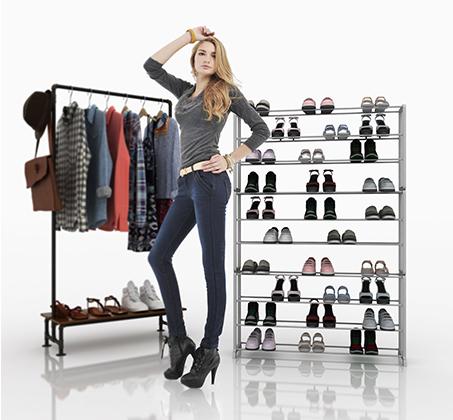 ארון נעליים קל ומודולארי מתאים לכל חדרי הבית מתאים עד ל-50 זוגות HOMAX דגם ארסוף - תמונה 4
