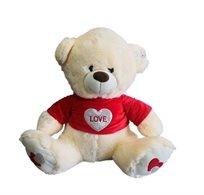 דובי 60 ס''מ חולצה אדומה-הדפס